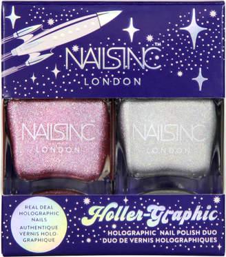 Nails Inc Holler-Graphic Nail Varnish 2 x 14ml