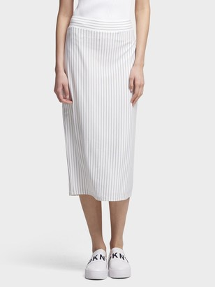 DKNY Striped Pull-On Skirt