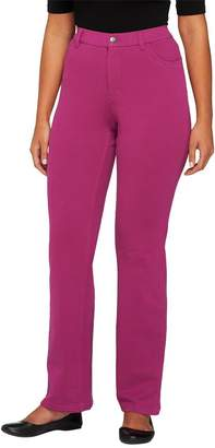 Denim & Co. Petite Comfy Knit Denim Boot-Cut Jeans
