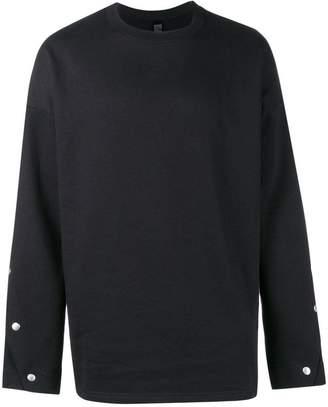 Odeur button sleeve sweatshirt