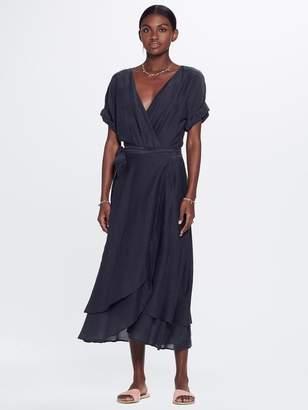 Mother XiRENA Wren Gypset Calliope Silk Cotton Dress Stormy Gray