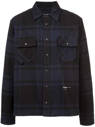Off-White check pattern shirt