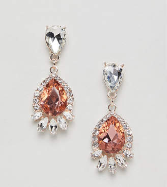 True Decadence pink rhinestone drop earrings