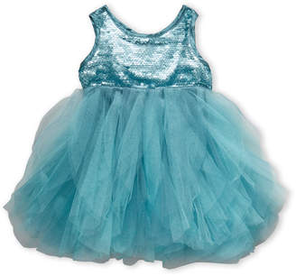 Biscotti Infant Girls) Teal Sequin & Tulle Dress