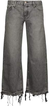 Simon Miller Thomas Mid-rise Cropped Frayed Bootcut Jeans