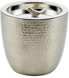 Old Dutch 1.5-Quart Bird Knob Churp Hammered Double-Walled Stainless Steel Ice Bucket