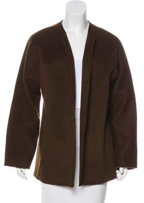 Brooks Brothers Collarless Wool Jacket