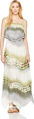 Green Dragon Women's Sand Stone Tie Dye Maxi Dress Cover Up