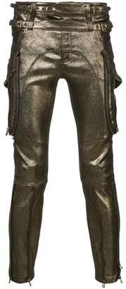 Faith Connexion metallic biker trousers