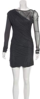Rag & Bone Silk Mesh Mini Dress
