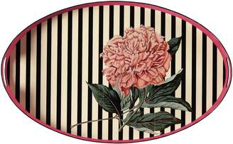 Gucci Flower print oval metal tray