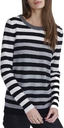 White + Warren Essential Stripe Crewneck Sweater - Women's
