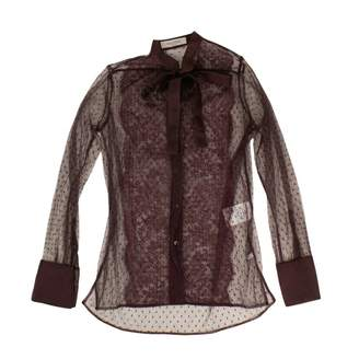 Valentino Burgundy Lace Tops