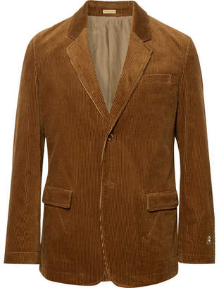 Undercover Brown Slim-Fit Cotton-Corduroy Blazer