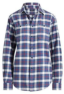 Polo Ralph Lauren Women's Long Sleeve Plaid Big Shirt
