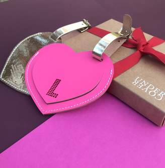 Undercover Heart Leather Luggage Label