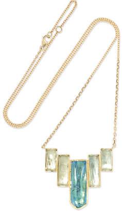 Brooke Gregson - Ziggurat 18-karat Gold Aquamarine Necklace