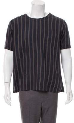 Robert Geller Striped Short Sleeve T-Shirt