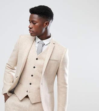 Noak Skinny Suit Jacket In Harris Tweed