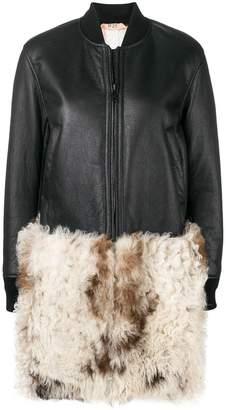 No.21 virgin wool patch coat