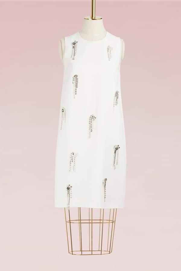 Msgm Cady Crystal Embellished Dress