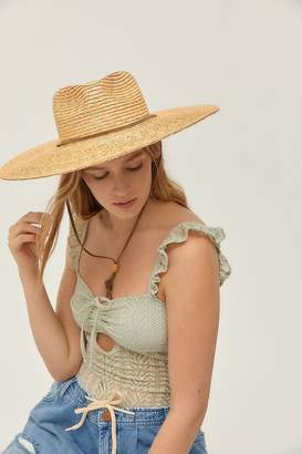 Urban Outfitters Shallow Crown Straw Hat
