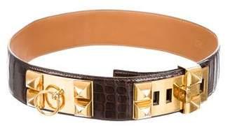 Hermes Alligator Collier De Chien Waist Belt