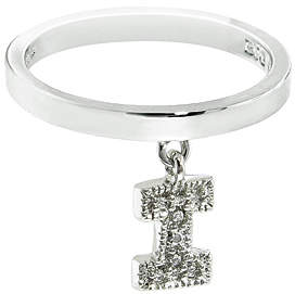 Silver 'I' Charm Ring