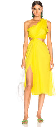 Cinq à Sept Corinne Dress in Blazing Yellow | FWRD