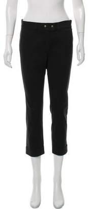 Alexander McQueen Mid-Rise Straight Pants Grey Mid-Rise Straight Pants