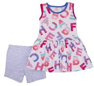 Little Star Organic Little Star Toddler Girl Tunic & Shorts, 2pc Outfit Set