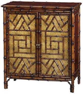 """Theodore Alexander Argent 30"""" Bamboo Cabinet - Dark Brown"""