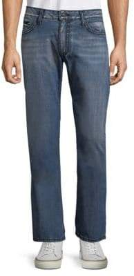 Whiskered Cotton Jeans