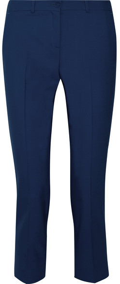 Michael Kors Collection - Samantha Cropped Stretch-wool Skinny Pants - Navy