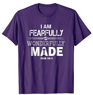 I am Fearfully and Wonderfully Made Christian Gift T-Shirt