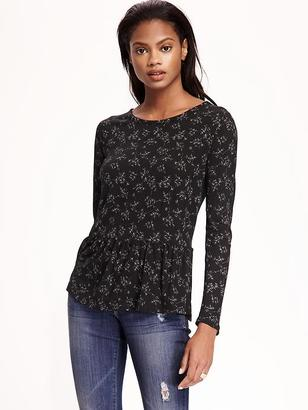 Relaxed Peplum-Hem Top for Women $19.94 thestylecure.com