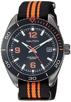 Nautica Men's 'Key Biscayne' Quartz Stainless Steel and Nylon Casual Watch