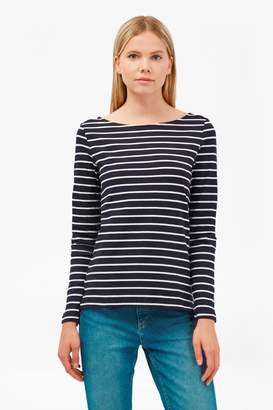 French Connenction Tim Tim Long Sleeve Striped Top