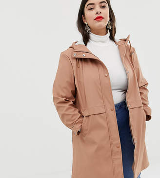 Vero Moda Curve hooded rain coat