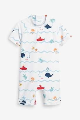 Next Boys Boat Sunsafe Swimsuit (3mths-7yrs) - White