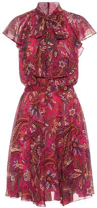 Etro Paisley-printed silk crepe dress