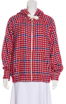JOUR/NÉ Hooded Houndstooth Jacket