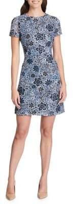 Kensie Dresses Short Sleeve Floral Mini Dress
