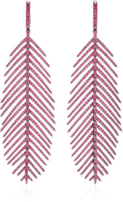Möve Sidney Garber Ruby Pave Feathers That Earrings