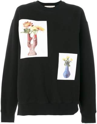 Ports 1961 flower and vase print sweatshirt
