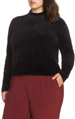 Leith Fluffy Mock Neck Pullover