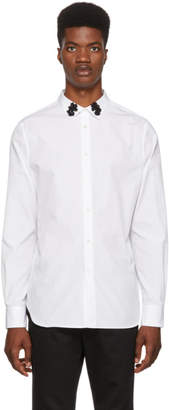 Alexander McQueen White Embellished Collar Shirt