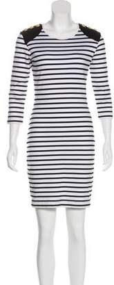 Markus Lupfer Striped Mini Dress