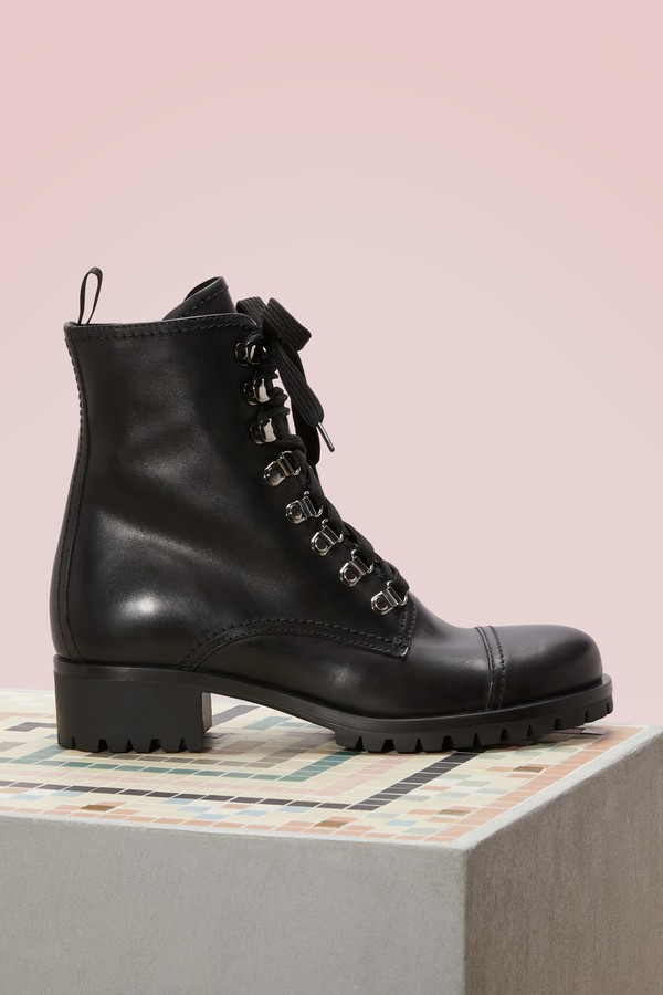 Prada Laced zipped boots