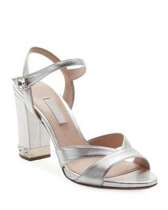 Miu Miu Metallic Leather 85mm Sandal
